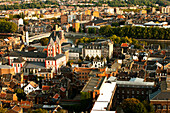 Cityscape with Church of St. Bartholomew, Liege, Wallonia, Belgium