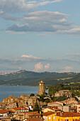 Village of Marta at Lago di Bolsena, crater lake of volcanic origin, province of Viterbo, Lazio, Italy, Europe