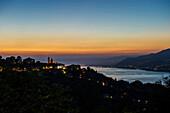 View ot San Rocco, Camogli, province of Genua, Italian Riviera, Liguria, Italia