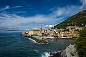 View to Nervi, Genoa, Liguria, Italia