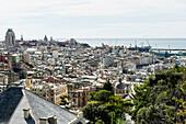 Cityscape with harbor, Genoa, Liguria, Italia