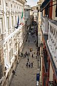 Via Garibaldi, Genoa, Liguria, Italia