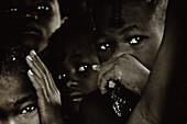 Children of the Himba tribe, Kaokoland, Namibia, Africa