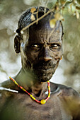 Older man from the Benna tribe, Omo valley, South Ethiopia, Africa