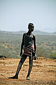 Young woman from the Bennar tribe, Omo valley, South Ethiopia, Africa