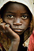 Portrait of a boy from the Omo valley, South Ethiopia, Africa