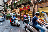 Scooters in the old town, Naples, Bay of Naples, Campania, Italy