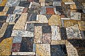 Marble stones on walkway at Acropolis, Athens, Attica, Greece