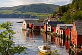 Little port of Torskangerpollen, Vagsoy Island, Province of Sogn og Fjordane, Vestlandet, Norway, Europe