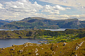 View towards Refvik, Vagsoy Island, Province of Sogn og Fjordane, Vestlandet, Norway, Europe