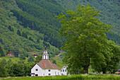 Church, Rosekyrkja in Stordal, Province of More og Romsdal, Vestlandet, Norway, Europe