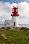 Lighthouse at Kap Lindesnes, Province of Vest-Agder, Soerlandet, Norway, Europe