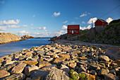 House on rocks at Kap Lindesnes, Province of Vest-Agder, Soerlandet, Norway, Europe