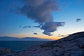Rocky coast at Kap Lindesnes, Province of Vest-Agder, Soerlandet, Norway, Europe