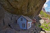 Helleren, House under the rocks, Joessingfjord, Province of Rogaland, Vestlandet, Norway, Europe