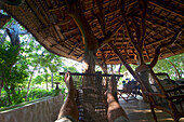Resting in a hammock, view of feet, Beauties of Nature, small lodge next to Yala National Park, Kirinda in the South of Sri Lanka