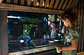 Kitchen in the Mya Guesthouse, Sittwe, Akyab, Rakhaing State, Arakan, Myanmar, Burma
