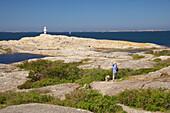 Walk along the coast near Marstrand, Istoen Island, Province of Bohuslaen, West coast, Sweden, Europe