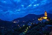 Legnaro at night, Levanto, province of La Spezia, Italian Riviera, Liguria, Italia