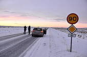 Country road at the golden circle, Iceland in winter, Iceland