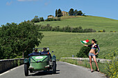 Talbot, 105 Team Car, Mille Miglia, 1000 Miglia, near San Quirico d'Orcia, Toskana, Italy, Europe