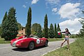 OSCA, 372 FS, Mille Miglia, 1000 Miglia, near San Quirico d'Orcia, Toskana, Italy, Europe