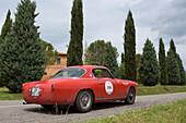 Alfa Romeo, 1900 Super Sprint, model 1956, Mille Miglia, 1000 Miglia, Tuscany, near San Quirico d'Orcia, Tuscany, Italy, Europe