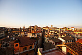 View from Hotel Albergo del Senato near Pantheon over the roofs of Rome, Rome, Lazio, Italy