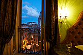 View out of the window of Hotel de Fiori towards Piazza del Biscione, Rome, Latio, Italy