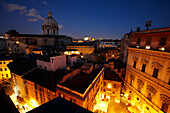 View from Hotel de Fiori towards Piazza del Biscione, Rome, Latio, Italy