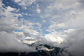 Timmelsjoch disappearing behing cloud, Oetztal, Tyrol, Austria