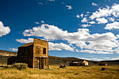 Old rundown buildings in afternoon light in the ghost town of Bodie, CA Bodie Ghost Town, California, USA