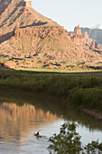 sea kayaking on the Colorado River, Moab, Utah, United States
