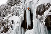 Ice climbing, New Hampshire New Hampshire, USA