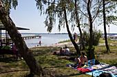 Bathing area, Wieck, Fischland-Darss-Zingst, Mecklenburg-Vorpommern, Germany