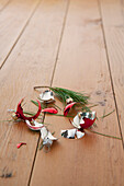 Broken Christmas ornament on floor, Los Angeles, California, United States