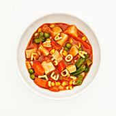 Bowl of alphabet soup, San Francisco, CA, USA