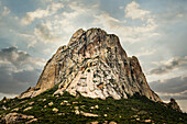 Rock formation on rural hilltop, San Sebastian Bernal, Queretano, Mexico, San Sebastian Bernal, Queretano, Mexico