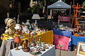 antique market, Orvieto, hilltop town, province of Terni, Umbria, Italy, Europe