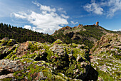 Roque Nublo, volcanic rock, landmark, Parque Rural del Nublo, natural preserve, near Tejeda, UNESCO Biosphere Reserve, centre of the island, Gran Canaria, Canary Islands, Spain, Europe
