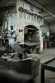Blacksmith tools in a hammer mill, Passau, Bavaria, Germany