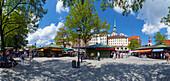 Viktualienmarkt, Munich, Upper Bavaria, Bavaria, Germany