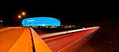 Allianz Arena in blau, München, Bayern, Deutschland