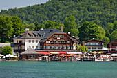 Ship on Lake Koenigssee, Berchtesgaden National Park, Berchtesgadener Land, Bavaria, Germany