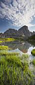 Neunerkofel, Bodenalpe, Bodenseen lake, South Tyrol, Dolomites, Italy