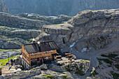 Buellele Joch hut, South Tyrol, Dolomites, Italy