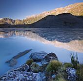 Mount Sefton, Hooker River, Mount Cook National park, Canterbury, South Island, New Zealand