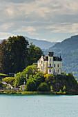 Reifnitz castle, Lake Woerthersee, Carinthia, Austria