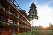 Exterior shot of a hotel, Klais, Krun, Upper Bavaria, Germany