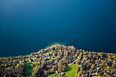 Aerial photo of Starnberger See, Upper Bavaria, Bavaria, Germany